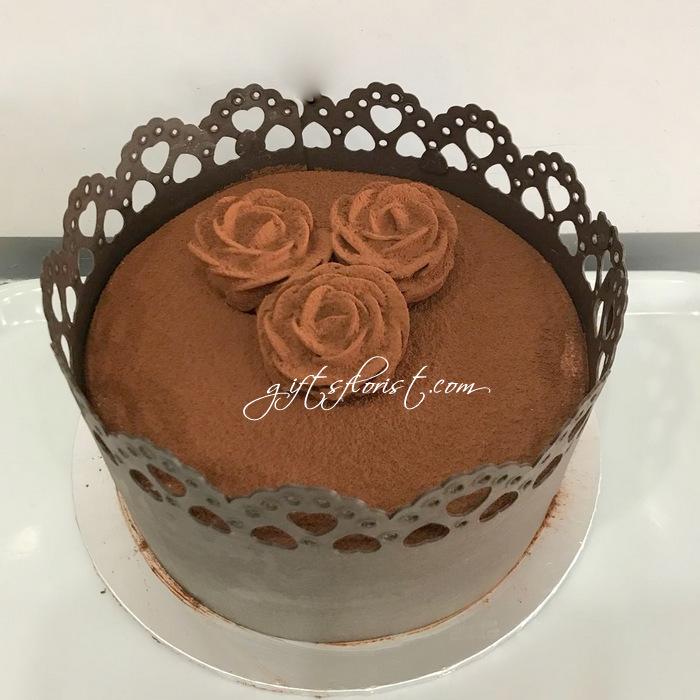 I Love U 3 Roses Cake